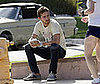 Photo Slide of Shia LaBeouf Drinking Coffee in LA
