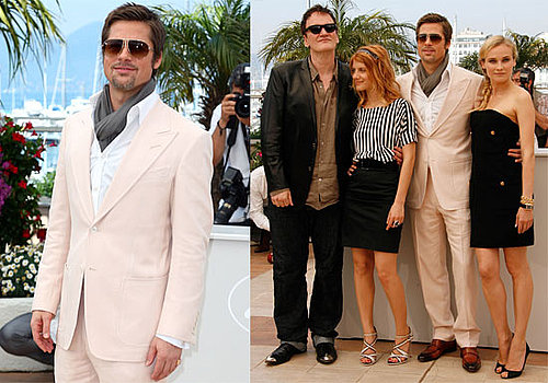 Photos of Brad Pitt, Diane Kruger, Quentin Tarantino at Inglourious Basterds Photo Call at Cannes