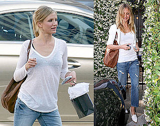 Photos of Cameron Diaz, Who's Apparently Still Dating Paul Sculfor, Shopping with Rachel Zoe at Decades Two