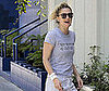 Slide Photo of Drew Barrymore Arriving At Her Office in LA