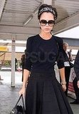 Victoria Beckham at the Airport