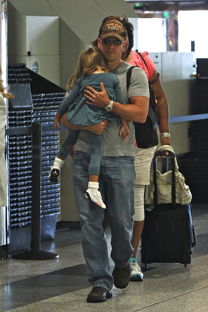 Matt Carries Isabella Through LaGuardia