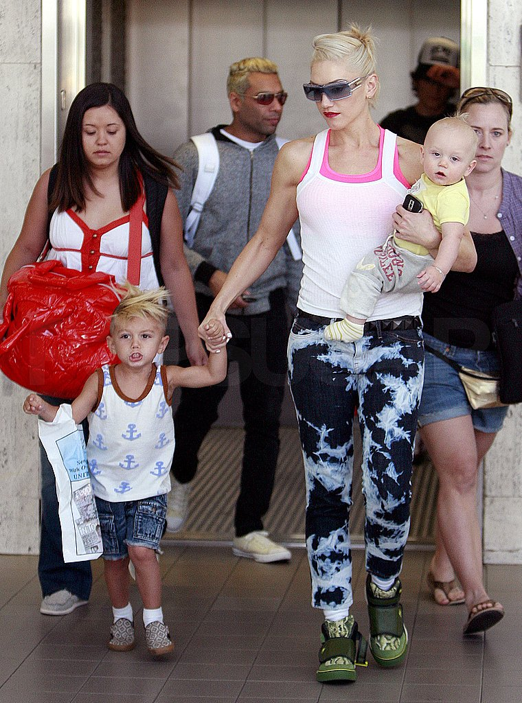 Gwen Stefani at the Airport