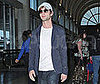 Slide Photo of Chace Crawford Walking Through LAX in a White Hat