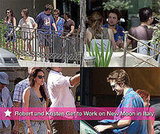 Photos of Robert Pattinson and Kristen Stewart in Italy On Set of New Moon