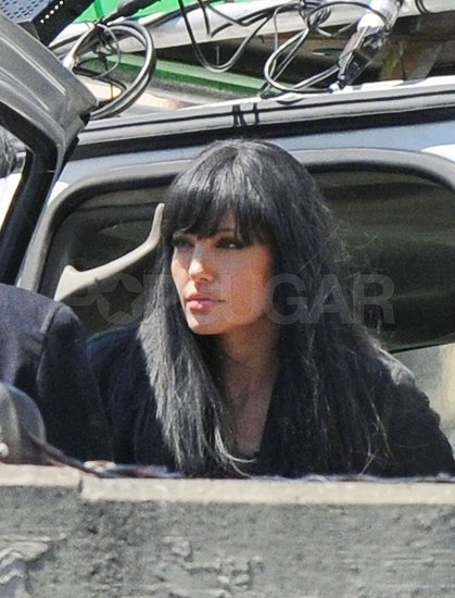 Angie Back on Set