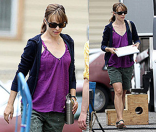 Photos of Rachel McAdams Filming Morning Glory