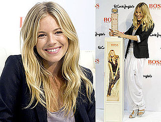 Photos of Sienna Miller Presenting A New Hugo Boss Fragrance in Madrid