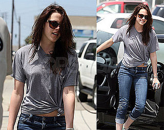 Photos of Sexy Kristen Stewart Smiling On Her Way Into Santa Monica Studio