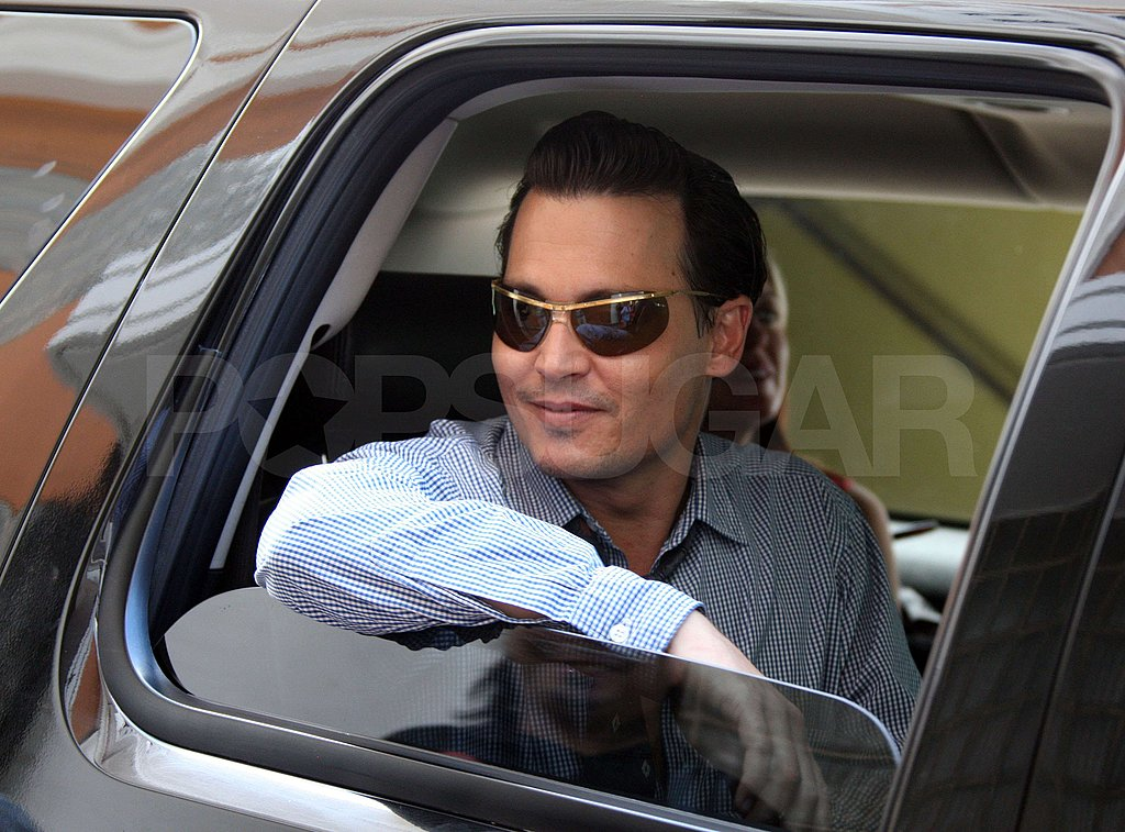 Johnny Depp on Set in Puerto Rico