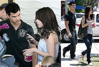 Photos of Selena Gomez and Taylor Lautner on a Frozen Yogurt Date Together in LA