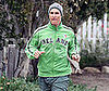 Slide Photo of Matthew McConaughey Wearing an Ireland Sweatshirt While Jogging in LA