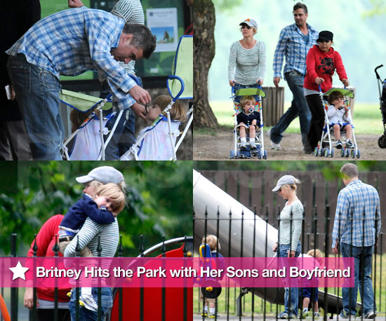 Britney Hits the Park with Her Sons and Her Boyfriend