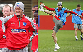 Photos of David Beckham Practicing Soccer in London 2009-06-09 08:30:28