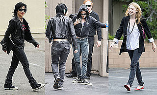 Photos of Kristen Stewart, Joan Jett and Dakota Fanning On The Set of The Runaways in LA