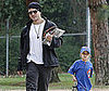 Photo Slide of Ryan Phillippe and Deacon Phillippe After a Little League Game in LA