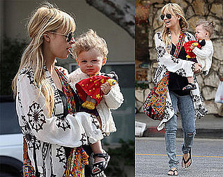 Photos of Pregnant Nicole Richie and Daughter Harlow Madden in Santa Monica