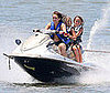 Slide Photo of Miley Cyrus on a Jet Ski
