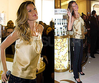 Photos of Gisele Bundchen Promoting Pantene in Sao Paulo, Brazil