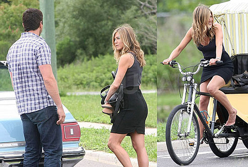 Photos of Jennifer Aniston and Gerard Butler on the NJ Set of The Bounty