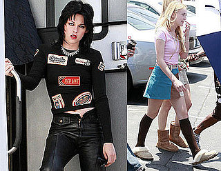 Photos of Kristen Stewart Heading to Work on The Runaways in LA