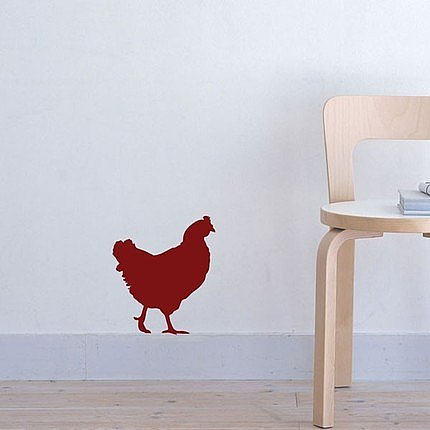 Little Red Hen Vinyl Decal ($10)