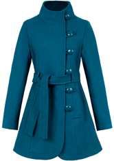 Belted Rhythm Nation Coat by Tulle