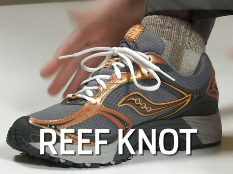 Do Your Laces Come Undone? Try the Reef Knot