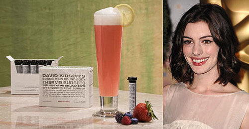 Anne Hathaway Drinks Thermo Bubbles to Boost Fat Burning