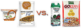 Side-by-Side Nutritional Comparson of Yogurt and Granola vs. Cereal and Milk