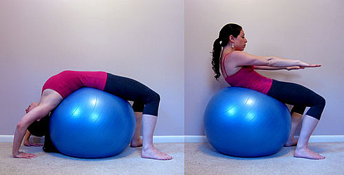 Get on the Ball: Backbend Crunches