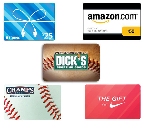 Gift Card For Fitness Gear