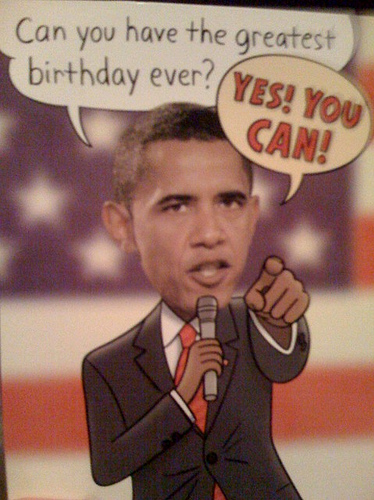 Obama Birthday Cards