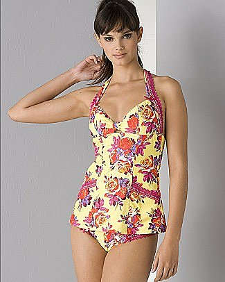 "Betsey Johnson ""Chez Rose"" Tankini and Matching Bottoms - Two Pieces - Bloomingdales.com"