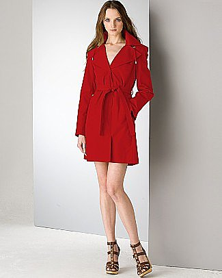 KORS Michael Kors belted rain collar raincoat - Spring Arrivals - Bloomingdales.com
