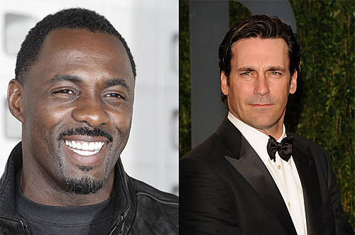 Video of Jon Hamm on 30 Rock and Idris Elba on The Office