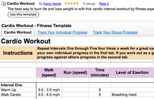 Use Google Doc's New Fitness Template For Tracking Workouts