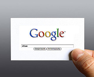 Business Card Uses Google Search Interface