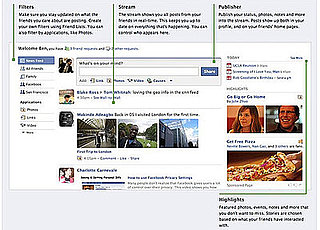 Facebook's New Home Page Redesign