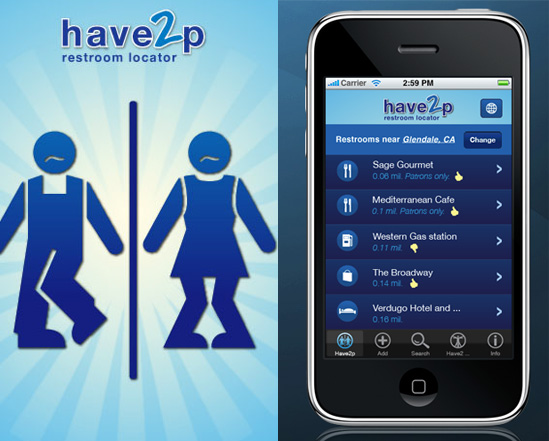 Have2P iPhone App For When You've Got to Go Right Now