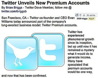Twitter Premium Accounts Acually an April Fools' Day Joke