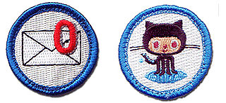 Nerd Merit Badges Feature Badge For Clearing Your Email Inbox