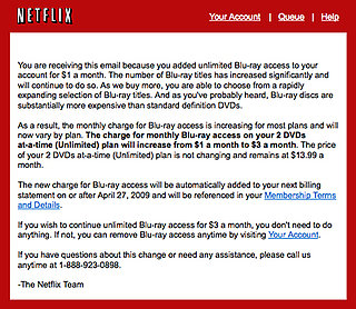 Netflix Raises Prices on Blu-ray Access