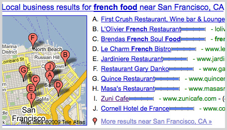 Daily Tech: Google Search Now Displays Local Results
