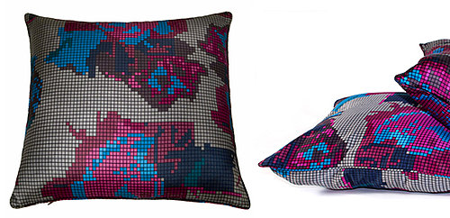 Mixelated Pillow Is Pixelated Floral Print