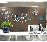 Blue Birds Vinyl Wall Decals