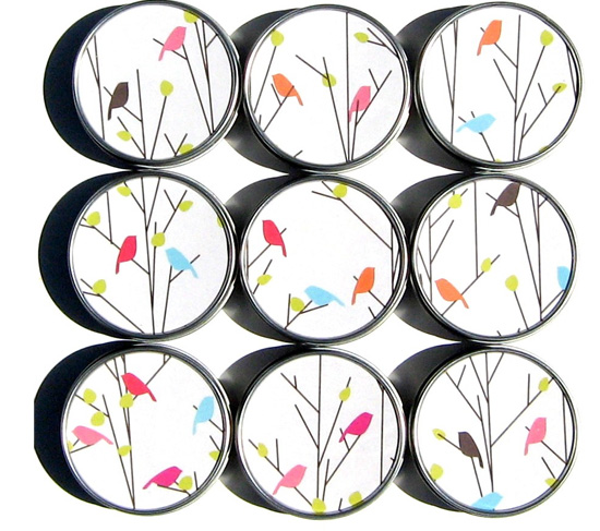 Set of 10 Canary Bird Gift Tins