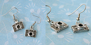 Camera Earrings From Shayna Logic