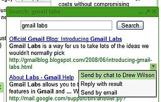 Gmail Lab Lets You Search Google Without Leaving Gmail