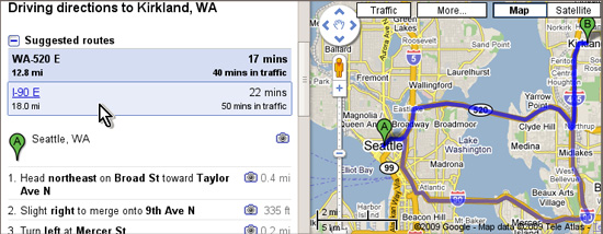 Google Maps Starts Suggested Routes